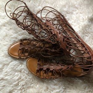 Shoes - Brown Gladiator Sandals